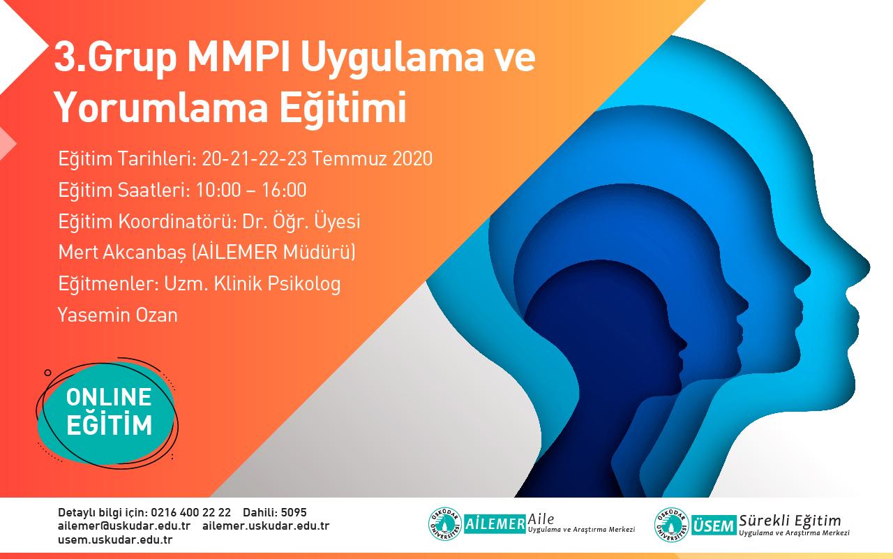 3. Grup MMPI Uygulama ve Yorumlama Eğitimi