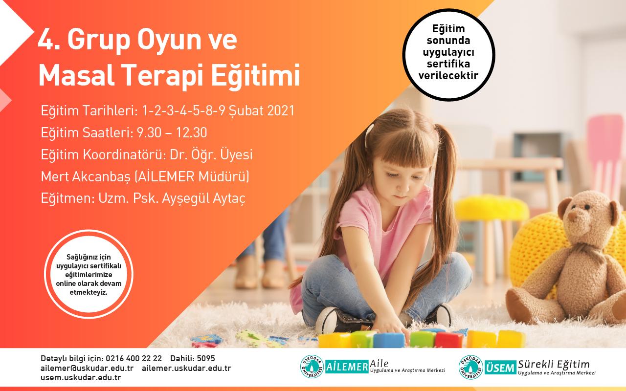 4. Grup Oyun ve Masal Terapisi Uygulayıcı Eğitimi