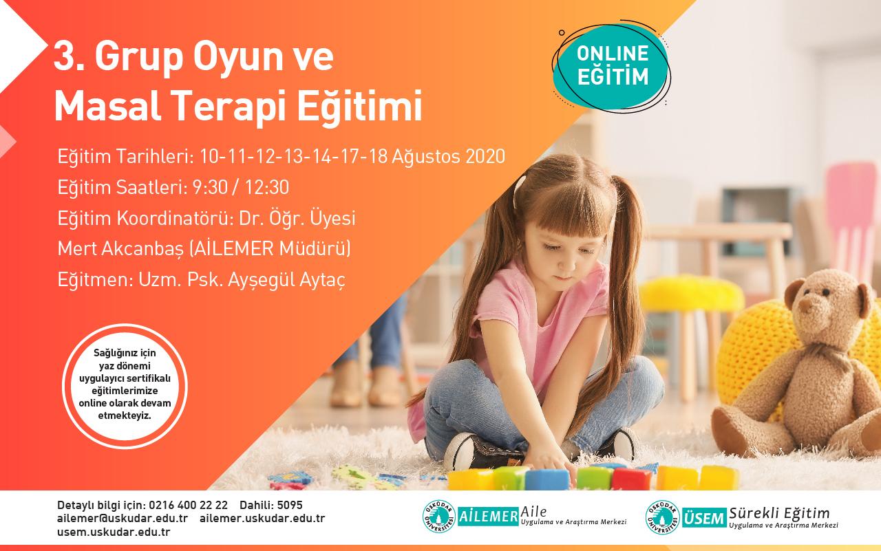 3.Grup Oyun ve Masal Terapisi Uygulayıcı Eğitimi