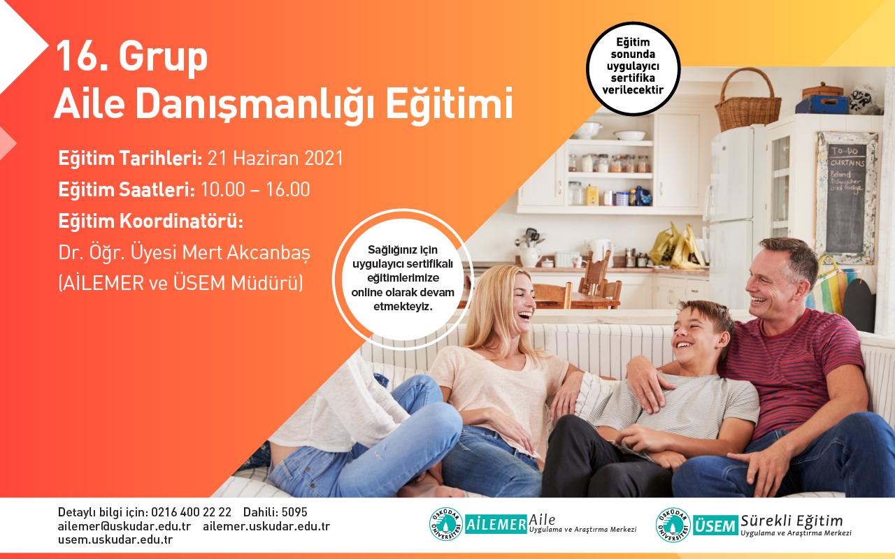 16. Grup Online Aile Danışmanlığı Sertifika Programı